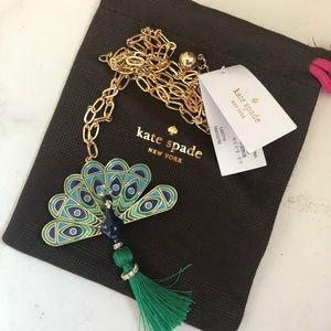 Kate Spade peacock pendant necklace